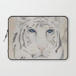 Original Art - White Tiger Original Painting (highly textured)  #white Laptop Sleeve