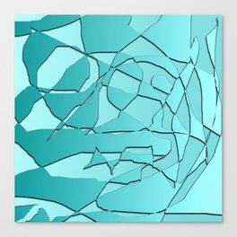 Shattered Teal Canvas Print