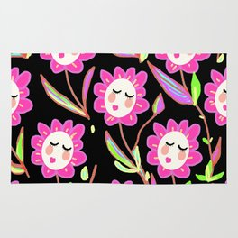Psychedelic Ladyflowers Rug