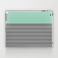 STRIPE COLORBLOCK {MUTED JADE} Laptop & iPad Skin