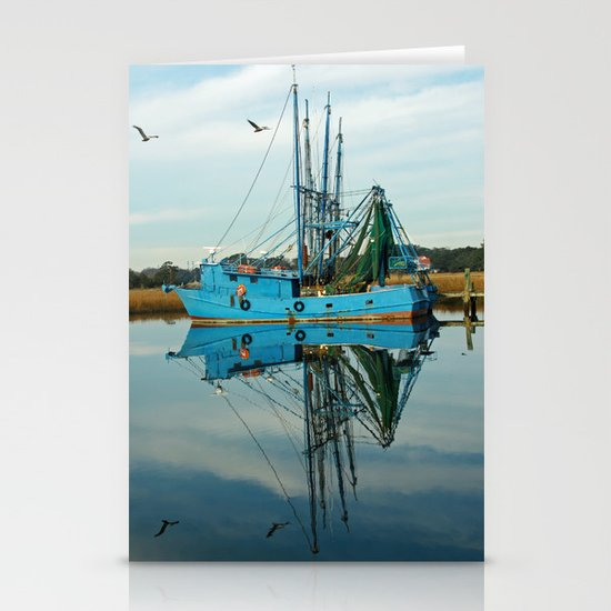 Boat Reflection Stationery Cards