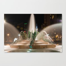 Philly Fountain Canvas Print
