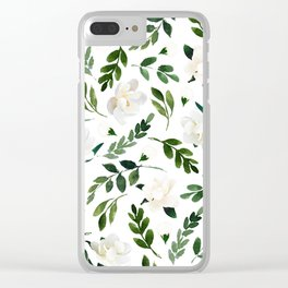 Magnolia Tree Clear iPhone Case