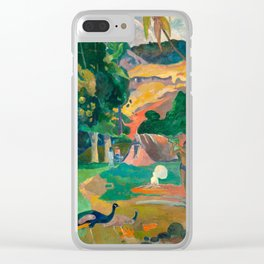 Paul Gauguin Matamoe, Landscape with Peacocks Clear iPhone Case