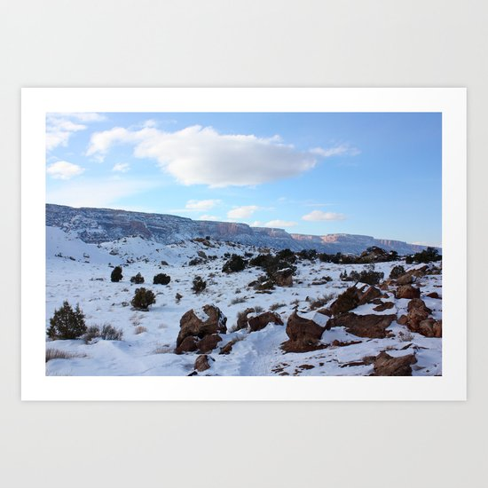 Colorado Canyons in the Cold 1 Art Print