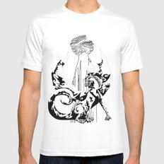 A Dragon from your Subconscious Mind Mens Fitted Tee MEDIUM White