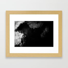 I've been drawn into your tar pit trap Framed Art Print