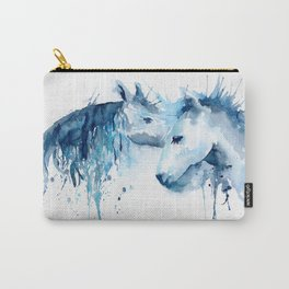 Watercolor Horse Love Carry-All Pouch