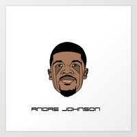 allyson johnson Art Prints featuring Andre Johnson by ΛDX7