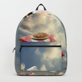 Woman flying Backpack