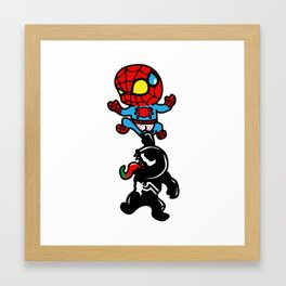 super villians are Jerks  Framed Art Print