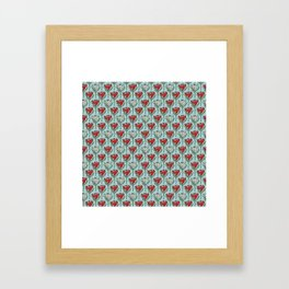 King Protea (Red) Framed Art Print