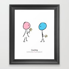 COURTING by ISHISHA PROJECT Framed Art Print