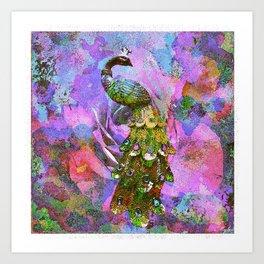 Peacock Watercolor Art Print