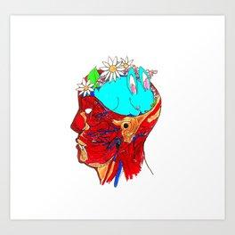 Funny Bunny Brain Art Print