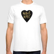 Rebel Heart White SMALL Mens Fitted Tee