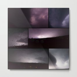 Storm collage Metal Print