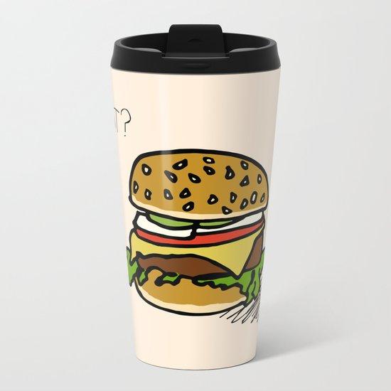 EAT? Metal Travel Mug