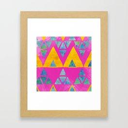 Triangle Jangle Framed Art Print