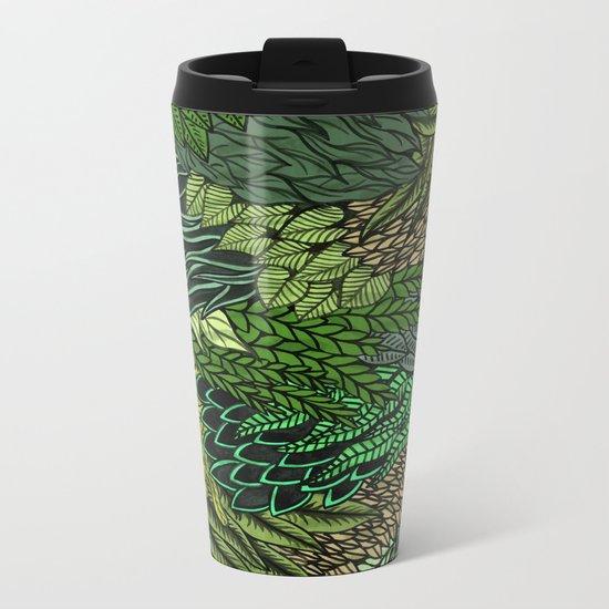 Leaf Cluster Metal Travel Mug