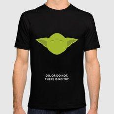 Star Wars Minimalism - Yoda Mens Fitted Tee LARGE Black