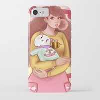 puppycat iPhone & iPod Cases featuring Bee and Puppycat by MW Illustration