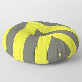 Chevrons warning sign Floor Pillow