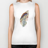 nudes Biker Tanks featuring Two Nudes by Dawson Illustrations