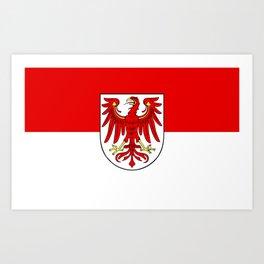 Flag of Brandenburg Art Print