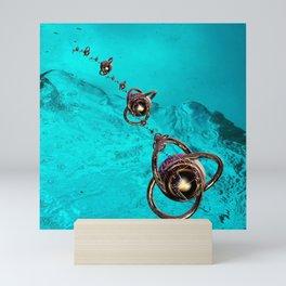 underwater mission in fractal Mini Art Print