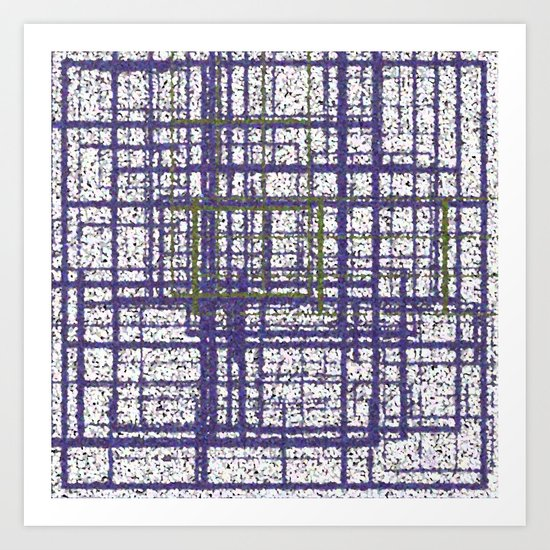 Purple, White, and Green Art Print