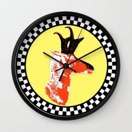 Antelope In Checkered Circle Wall Clock