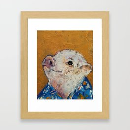 Little Piggy Framed Art Print