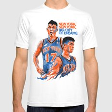 Jeremy Lin: New York, New York, Big City of Dreams. Mens Fitted Tee White MEDIUM