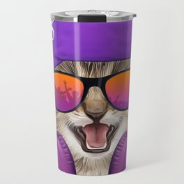 Cool music cat Travel Mug