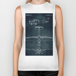 CESSNA 172 - First flight 1955 Biker Tank