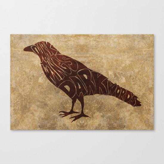 Dark wings Canvas Print