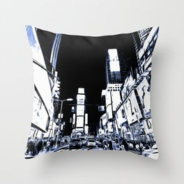 Times Square Art Throw Pillow