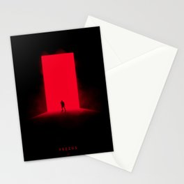 Red Monolith Stationery Cards
