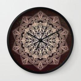 Brown Mandala Wall Clock