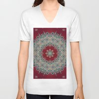 patterns V-neck T-shirts featuring Mandala Nada Brahma  by Elias Zacarias