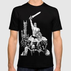 Adventures in Avaland  X-LARGE Black Mens Fitted Tee