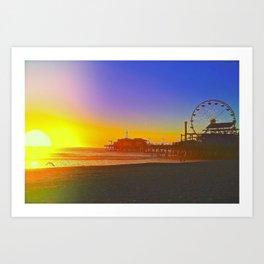 Santa Monica Ca. Art Print