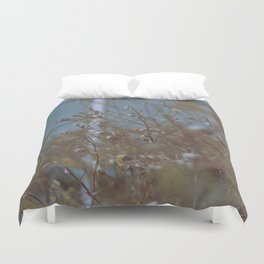 Withered Winter Plants Duvet Cover