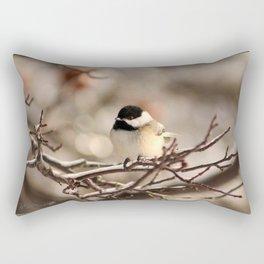 Black-Capped Chickadee in Winter Rectangular Pillow