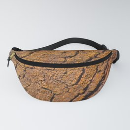 Orange tree bark with rustic wrinkles Fanny Pack