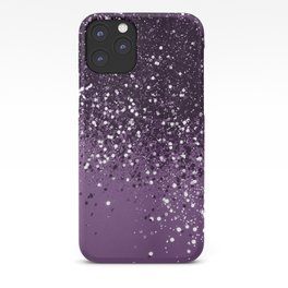 PURPLE Glitter Dream #1 #shiny #decor #art #society6 iPhone Case