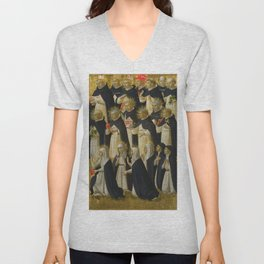 "Fra Angelico (Guido di Pietro) ""Fiesole Altarpiece - The Dominican Blessed"" 1 Unisex V-Neck"