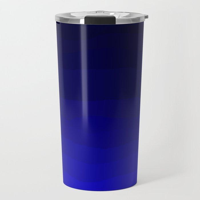 Deep Rich Sapphire Ombre Travel Mug