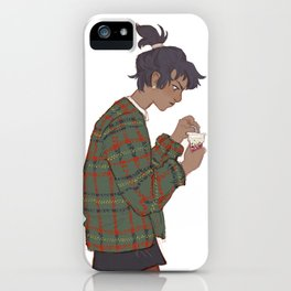 Blue in my dumb clothes iPhone Case